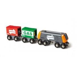 BRIO 33259 Pociąg towarowy z gazem