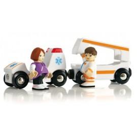 BRIO 33575 Ambulans z dźwiękiem i światłem