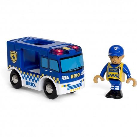 BRIO 33825 Policyjne auto z dźwiękiem