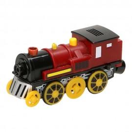 Czerwona lokomotywa na baterię