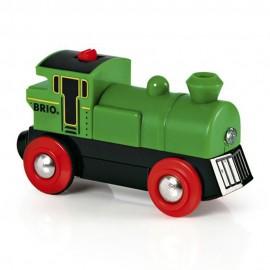 BRIO 33595 Zielona lokomotywa na baterię