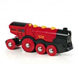 BRIO 33592 Duża czerwona lokomotywa na baterię