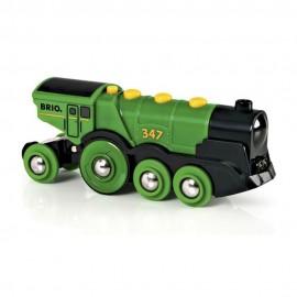 BRIO 33593 Duża zielona lokomotywa na baterię