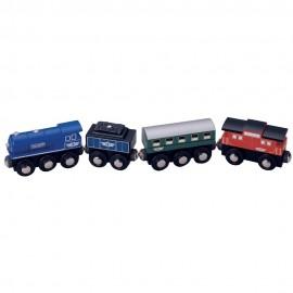 Pociąg osobowy z lokomotywą parową