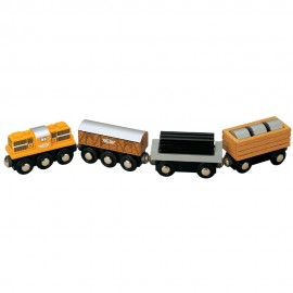 Pociąg towarowy z lokomotywą Diesla