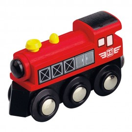 Czerwona lokomotywa parowa