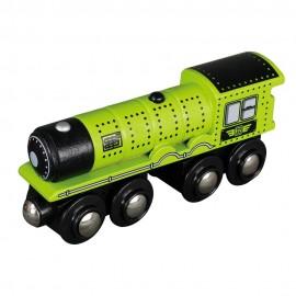 Duża lokomotywa parowa - zielona