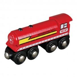 Duża lokomotywa parowa - czerwona