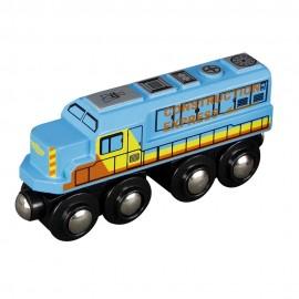 Duża lokomotywa Diesla - niebieska