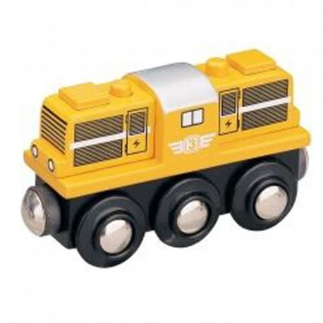 Lokomotywa z silnikiem Diesla - żółta