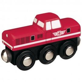 Lokomotywa z silnikiem Diesla - czerwona