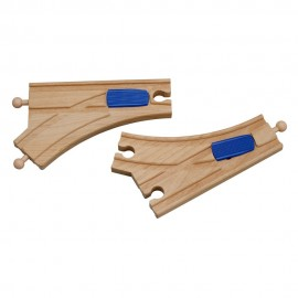 Drewniane zwrotnice mechaniczne (para)