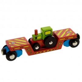 Wagon z traktorem