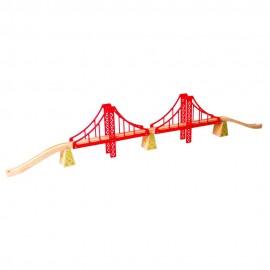 Most wiszący z 2 przęsłami