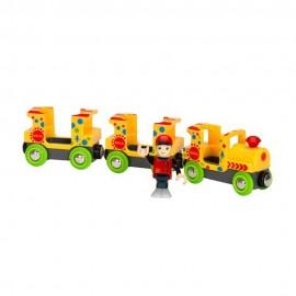 BRIO 33741 Kolorowy pociąg z figurką