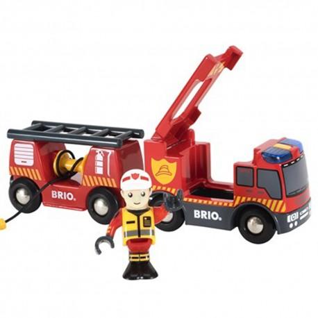 BRIO 33811 Pojazd strażacki z dźwiękiem i światłem