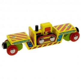 Wagon z buldożerem