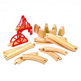 Duży zestaw do budowy mostów