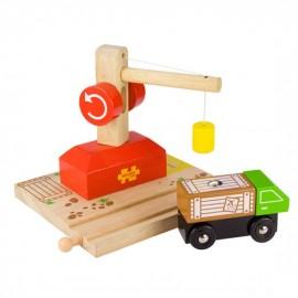 Dźwig i ciężarówka