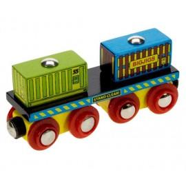 Wagon z dwoma kontenerami
