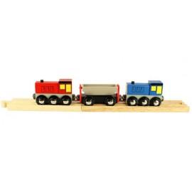 2 lokomotywy i wywrotka