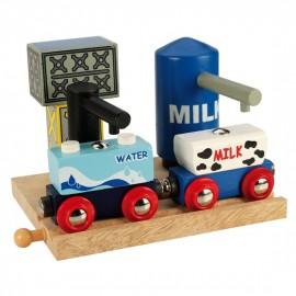 Stacja z mlekiem i wodą